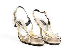 Barbara Bui Leather Silver Sandals