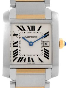 Cartier Cartier Tank Francaise Midsize Steel 18k Gold Watch W51012Q4 Unworn