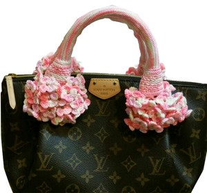 Other Handmade Handle Covers For Louis Vuitton Speedy Alma trouville montaigne Deauville Crochet Pink multi