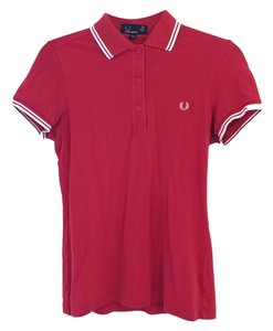 Fred Perry Button Down Shirt Red