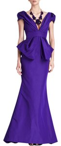 Oscar de la Renta Peplum Ball Gown Gown Dress
