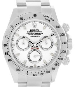 Rolex Rolex Cosmograph Daytona White Dial Steel Mens Watch 116520 Unworn