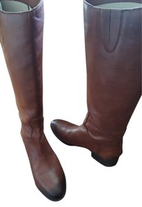 Sam Edelman Riding Metallic Hardware Leather brown/chestnut Boots