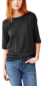 Gap Minimalist Minimal Casual Chic Relaxed T Shirt Charcoal