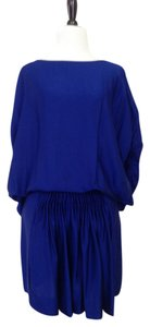 Diane von Furstenberg short dress blue on Tradesy