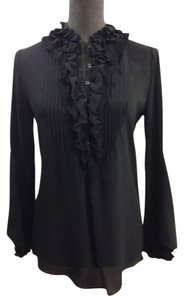 Elie Tahari Silk Top Black