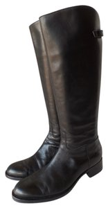 Ash Leather Zippers Riding Riding black Boots