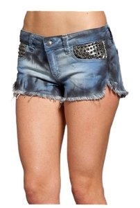 Frankie B Mini/Short Shorts light denim