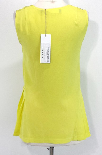 Marni Silk Top Yellow