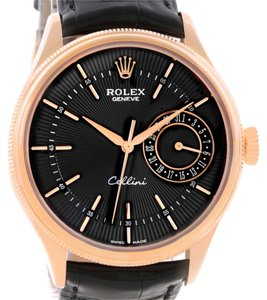 Rolex Rolex Cellini Date 18K Rose Gold Everose Watch 50515 Box Papers