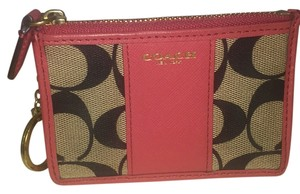 Coach Wristlet in Pink And Brown