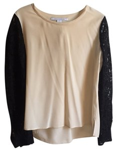 Diane von Furstenberg Top Cream/ivory, black