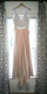 BHLDN Blush Cotton Nylon Tulle; Polyester Silk Lining Tamsin Formal Wedding Dress Size 8 (M)