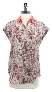 Club Monaco Silk Top Floral