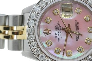 Rolex Ladies Datejust Pink MOP Diamond Watch