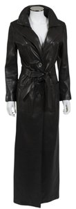 Jitrois Leather Leather Elegant Trench Coat