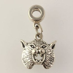 Dangle Wild Cat Charm - Silver Toned Womens Fashion Estate Generic