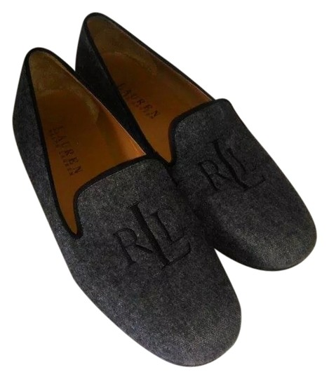 Lauren by Ralph Lauren Preppy Casual Gray Flats