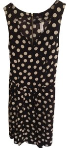 Target short dress Black and white Polka Dot Day V-neck on Tradesy