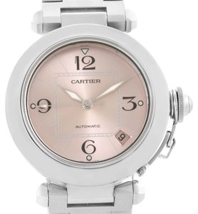 Cartier Cartier Pasha C Steel Pink Dial Ladies Watch W31075M7