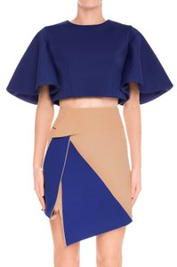 C/meo Collective Fashion Bunker Asymmetrical Color Block Mini Skirt