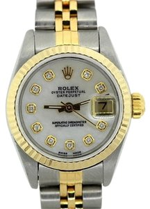 Rolex LADIES ROLEX DATEJUST 2 TONE GOLD BEZEL WATCH
