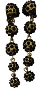Amrita Singh Black Pearl Dot Clip on Earrings
