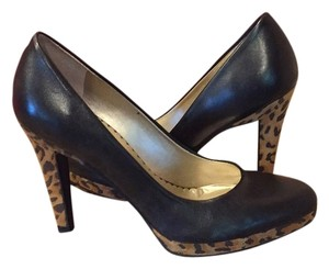 Jessica Simpson Black Cheetah Print Platforms