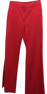 Sisley Bell Casual Wide Leg Pants Red