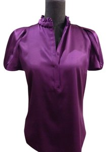 Elie Tahari Silk Top Purple