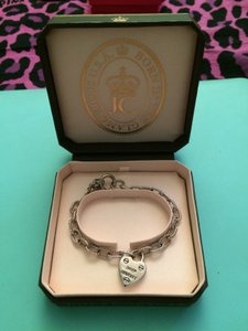 Juicy Couture Silver Charm Bracelet With Heart Charm