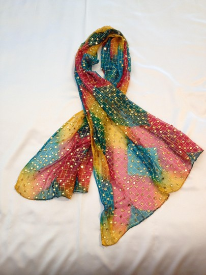 Other Vintage Sari Sequined Wrap/Scarf/Pareo - [ Roxanne Anjou Closet ]