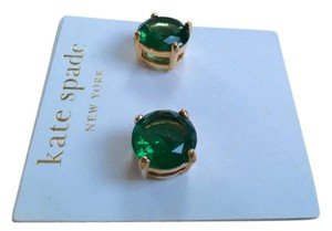 Kate Spade Kate Spade Small Gumdrop Green Earrings, Gold Studs