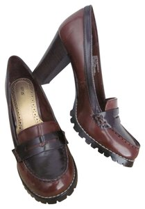 Apt. 9 Lug Sole High Heel Loafers Brown Pumps