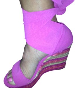 Donald J. Pliner Pink Wedges