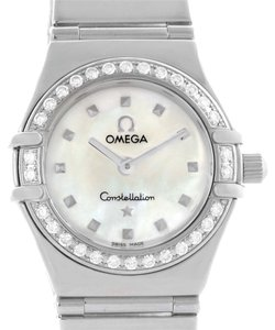 Omega Omega Constellation My Choice Mini Diamond Steel Watch 1465.71.00
