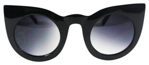 Vera Lyndon Veronica retro vintage cat eye sunglasses black