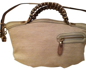 orYANY Satchel in Cream/tan