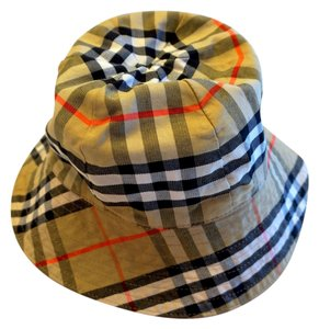 2b07aff2d4a Burberry Burberry Nova Check Rain Hat Reversible to Red