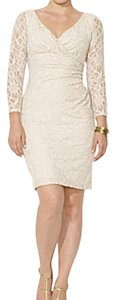 Lauren by Ralph Lauren Ivory Lace Plus Size 22w Cocktail Dress