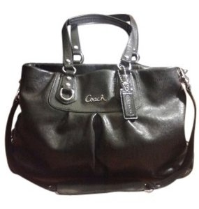 Coach Ashley Large Carryall 15513 Satchel in Black
