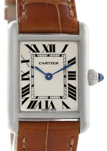 Cartier Cartier Tank Louis Small 18k White Gold Watch W154105 Box Papers