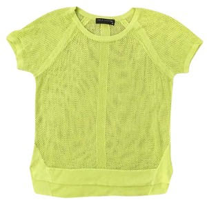 Rag & Bone Mesh Sporty T Shirt lime green