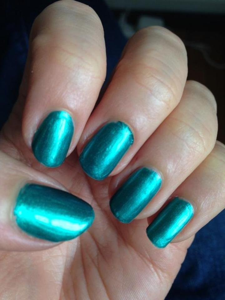 Julep Phoebe Nail Polish New Vegan Blue Green Metallic Chrome Finish ...