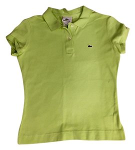 Lacoste Button Down Shirt Chartreuse