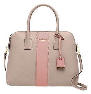 Kate Spade Leather Cameron Street Racing Stripe Margot Pxru5969 Satchel in Clock Tower/Rose Jade