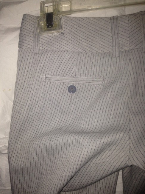 Express Pinstripe Trousers Workwear Business Casual Sophisticated Cropped Pants