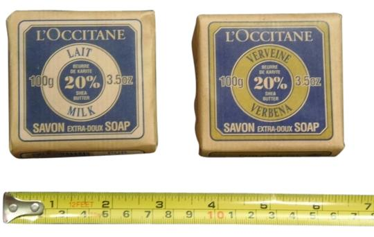 L'Occitane (2) L'Occitane Bar Soaps 20% Shea Butter Lait Milk & Verbena 3.5 oz ea