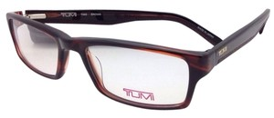 Tumi New TUMI Eyeglasses T 305 53-17 140 Brown Rectangular Frame w/ Clear Demo Lenses