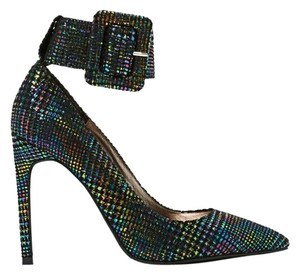 Jeffrey Campbell Textured Snakeskin Metallic Multi Pumps